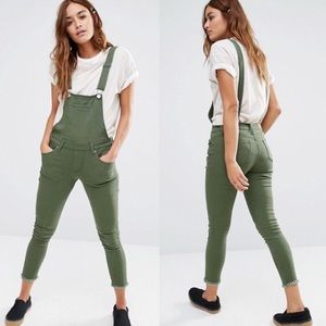 Olive green overalls ASOS